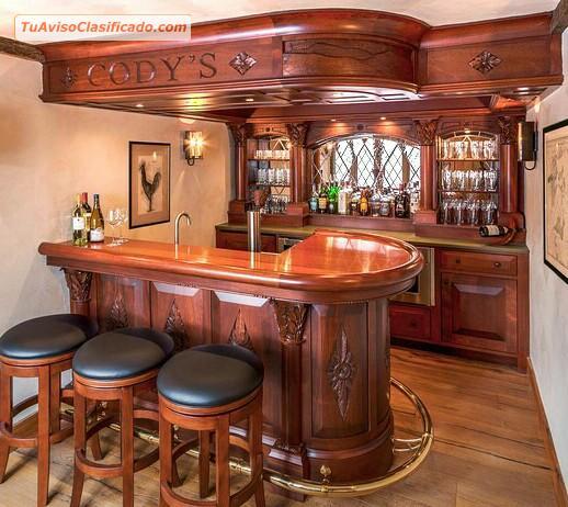 Arte y estilo colonial bares closets reposteros for Bares modernos de madera