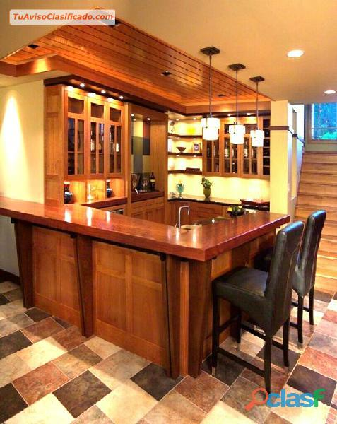 Bares modernos de ensue o y sabor a la medida mobiliario for Bares madera modelos