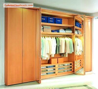Closets y reposteros modernos de madera y melamine for Closets finos madera
