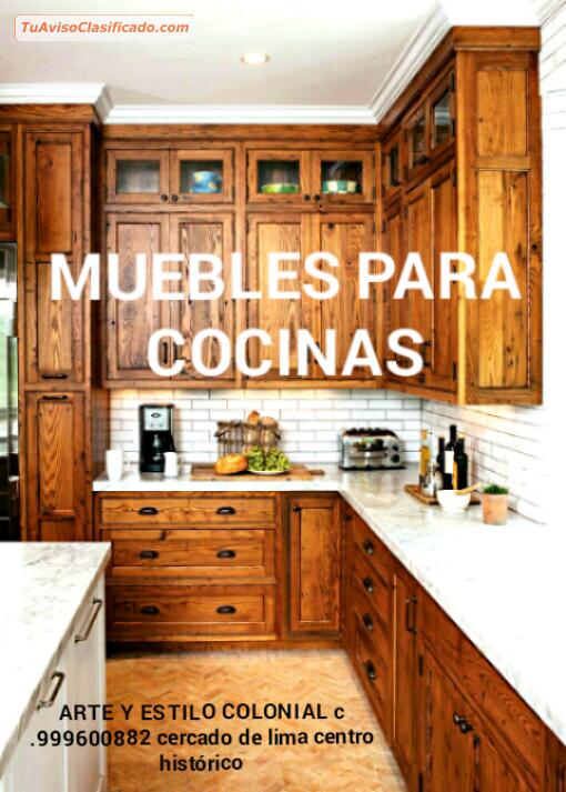 Muebles Para Cocina En Madera Clasicos Lima Peru Sudamerica Mobi - Cocinas-de-bares