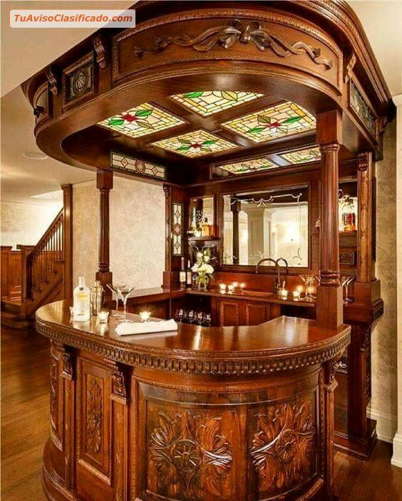Closets modernos de madera lima per mobiliario y for Fabricacion de bares de madera
