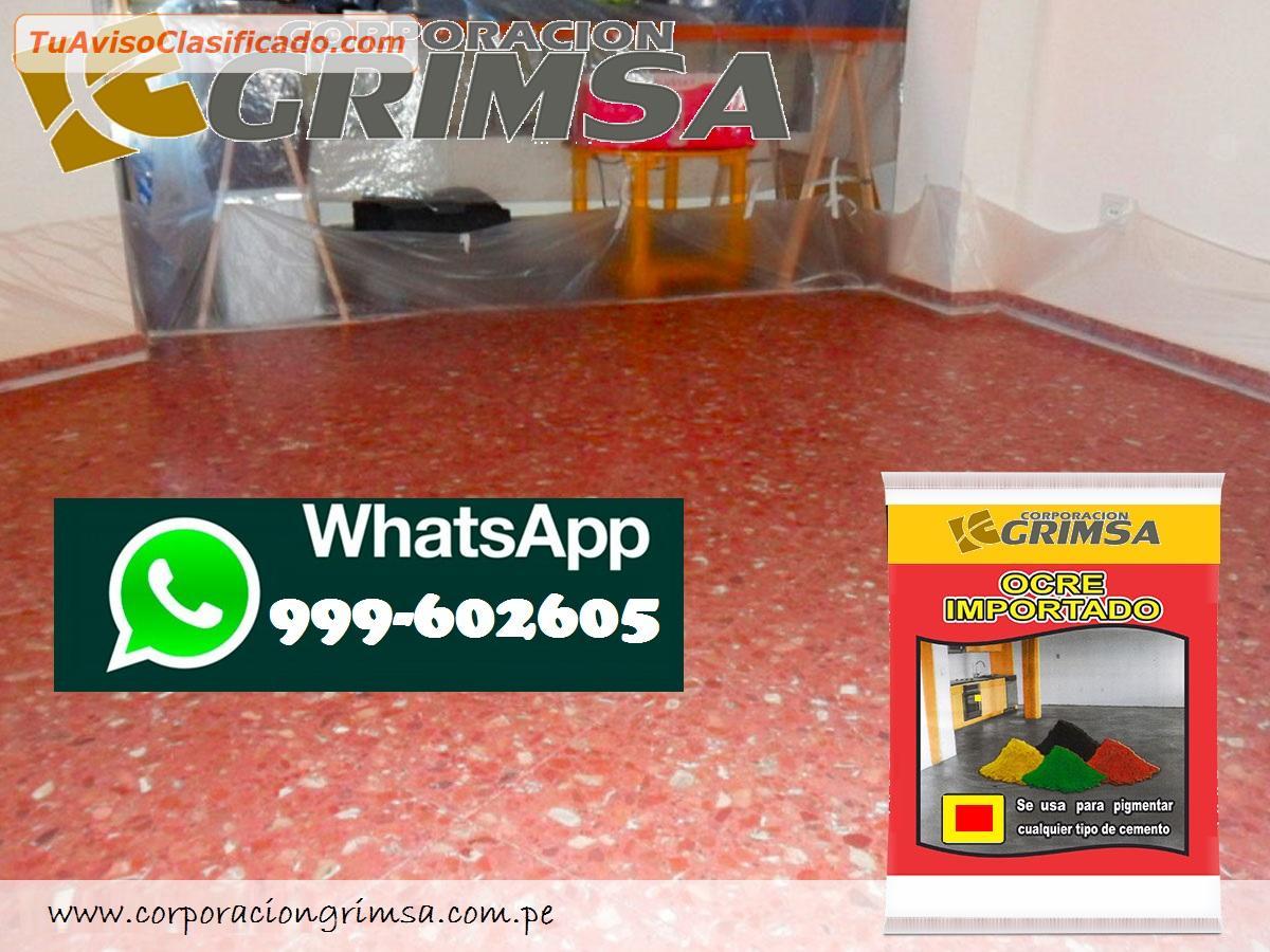 Ocres importados y nacionales en todo los colores for Pigmento para cemento
