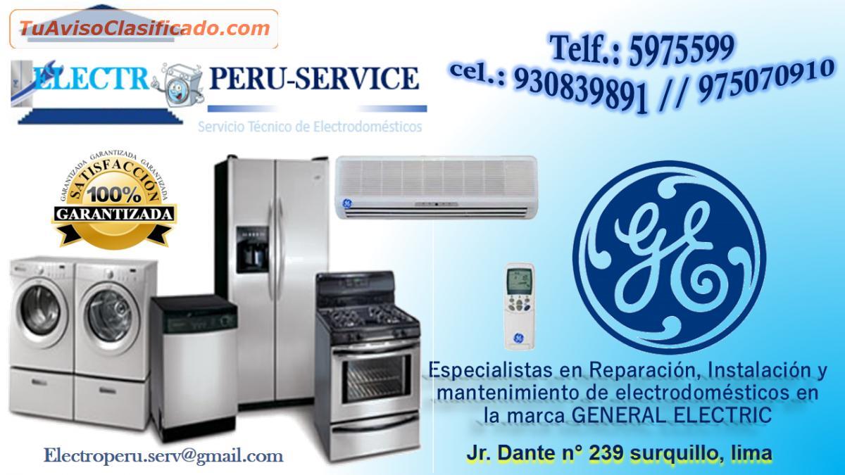 Servicio t cnico de lavadoras en lima telf 01 5975599 - Servicio tecnico de general electric ...