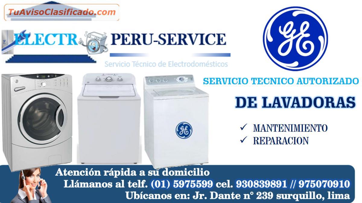 Servicio t cnico lavadoras general electric en lima telf - Servicio tecnico de general electric ...