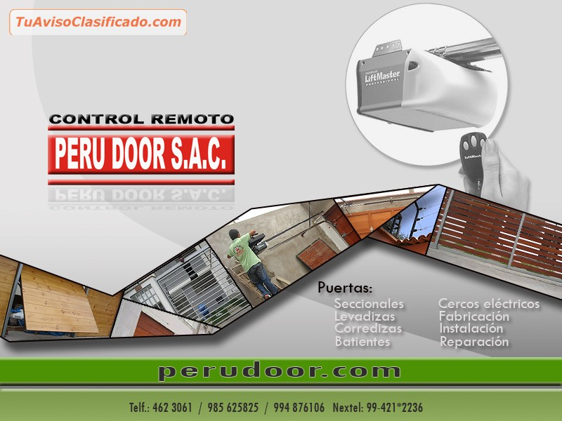 Mantenimiento para puertas de garaje levadizas seccionales peru do - Mantenimiento puertas de garaje ...