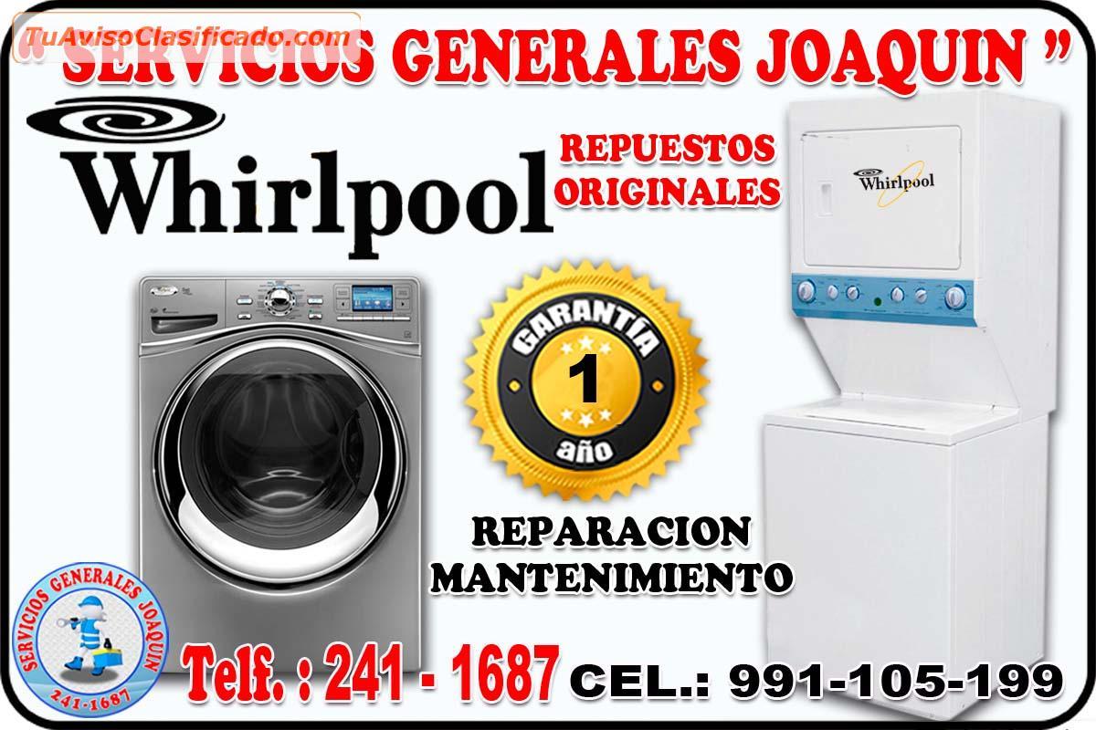 Servicio t cnico whirlpool lavadoras lavasecas for Servicio tecnico whirlpool