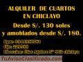 ALQUILO CUARTOS - CHICLAYO