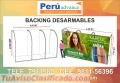 BACKING PUBLICITARIO DESARMABLE LIMA PERU VENTAS