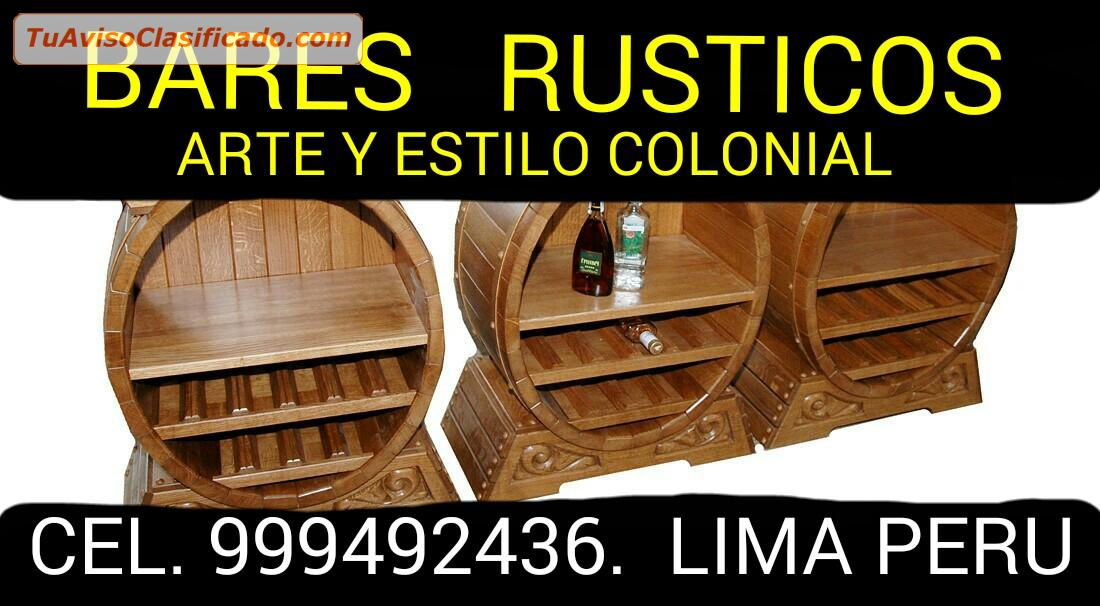 Muebles r sticos cl sicos coloniales modernos exclusivos for Muebles rusticos uruguay