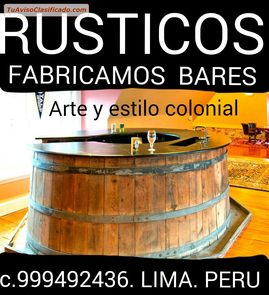 Muebles r sticos cl sicos coloniales modernos exclusivos for Muebles rusticos modernos