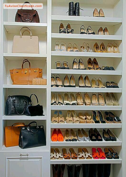 Mueble zapatero para damas mobiliario y equipamiento for Zapateros colgados pared