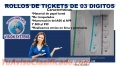 CONTOMETROS DE TICKETS DE 03 DIGITOS