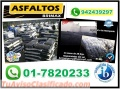 ASFALTO EN FRIO MEZCLA ASFALTICA ESPECIAL Y PREPARADA, TELF. 01-7820233.