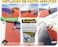MEMBRANA ASFALTICA GRAVILLADO, LISO Y ALUMINIZADO. TELF. 7820233.