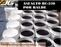 Asfalto rc-250 distribuimos a nivel nacional en cilindro de 55 galones y por baldes