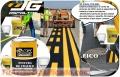 Pintura de trafico en cilindro color blanco y amarillo de excelente calidad