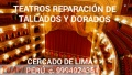 TEATROS REPARACIÓN DE TALLADOS Y DORADOS LIMA PERÚ