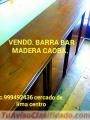 BARRA bar en madera para RESTAURANTE