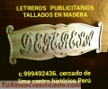 Letreros en madera tallada lima Perú