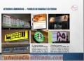 Cajas y letreros luminosos, Letras acrílicas block retroiluminadas, paneles, Bastidores