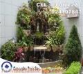 Cascada artificial, fuente artificial, estanque artificial