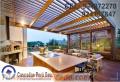 Techos sol y sombra de madera modelos decorativos para terraza, azoteas, jardín,