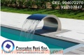 Velo de agua para piscinas, piletas, panel de burbujas, rebose de acero, rebose de agua,