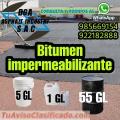 Bitumen para techos y obras asfalticas