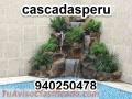 Cascadas artificiales en piedra natural para jardines