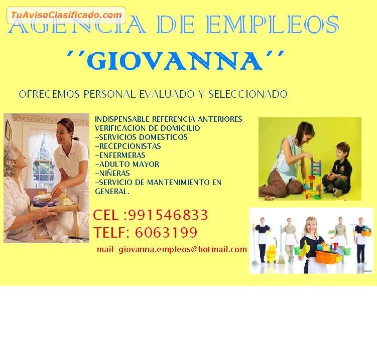 Agencia de empleos giovanna servicios y comercios g for Agencia de empleo madrid