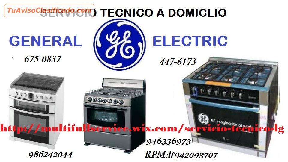 Servicio Tecnico General Electric Lavadoras Refrigeradoras
