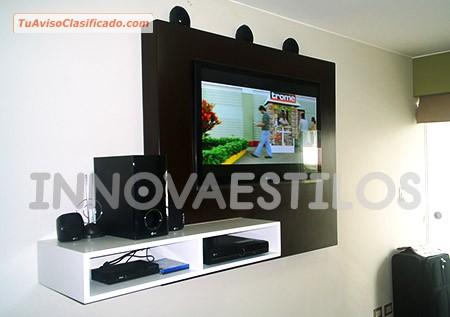 Mueble para tv led lcd y plasma mobiliario y - Distancias recomendadas para ver tv led ...