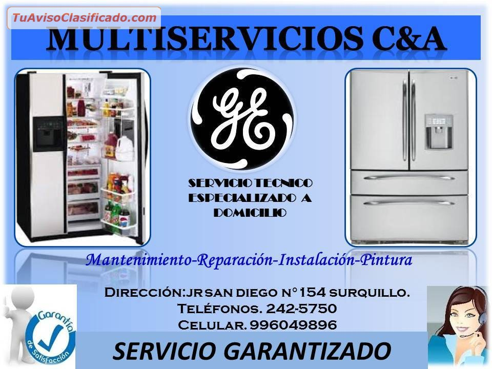 Servicio tecnico refrigeradores general electric - Servicio tecnico general electric ...