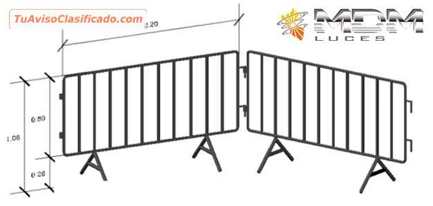 Alquiler de vallas de seguridad para eventos mdm luces - Valla de seguridad ...