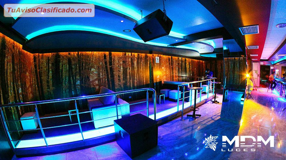 Decoracion de discotecas karaokes bares mdm luces for Decoracion de barras para bares