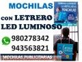 MOCHILA PANCARTA PUBLICITARIA. MOCHILA para ACTIVACIÓN Y VOLANTEO
