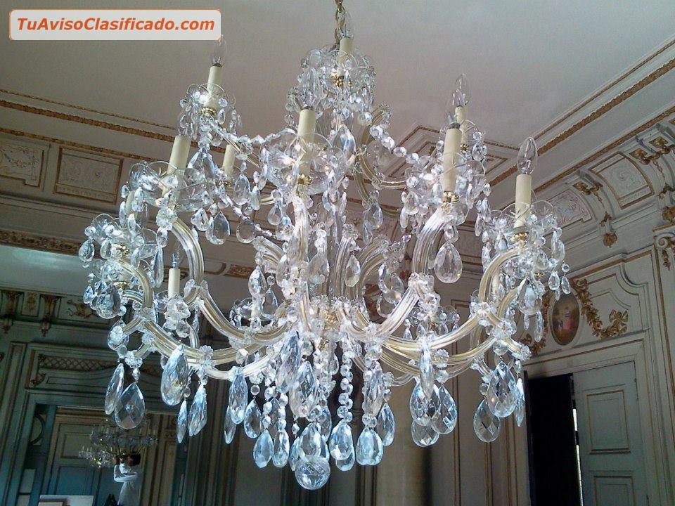 Limpieza de ara as de cristal arnolds en miraflores - Lampara de arana de cristal ...